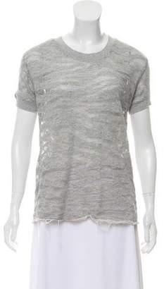 IRO Semi-Sheer Short Sleeve T-Shirt