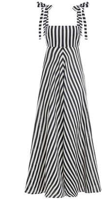 Zimmermann Honour Chevron Tie Dress