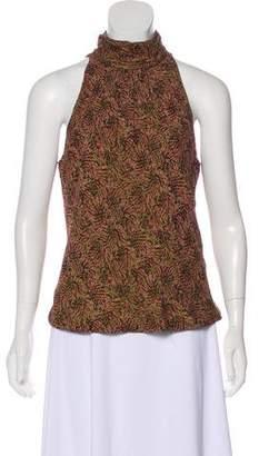 Carmen Marc Valvo Sleeveless Silk top