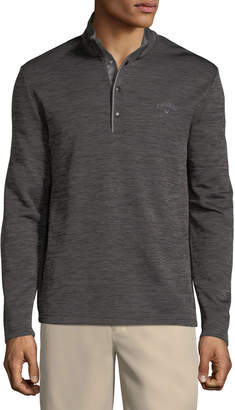 Perry Ellis Callaway Space-Dye Pullover Fleece Jacket
