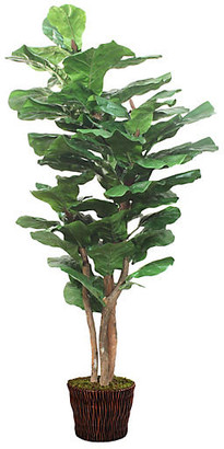 """One Kings Lane 85"""" Lush Fiddle-Leaf Tree with Basket - Faux"""