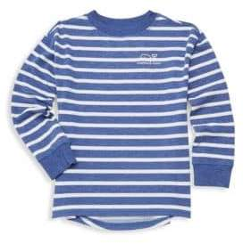 Vineyard Vines Kid's Cozy Stripe Whale Pullover