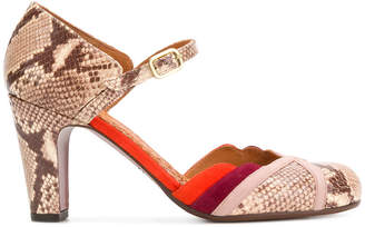 Chie Mihara snakeskin effect Mary Janes