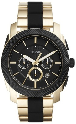 Men's Fossil 'Machine' Chronograph Bracelet Watch, 45Mm $165 thestylecure.com