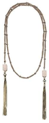 Iosselliani Women Gold Brass Quartz Strand Necklace of Length 125cm C 741/18 SS