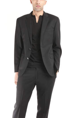 Simon Spurr Two Button Notch Black Twill Suit