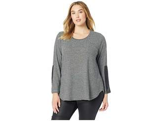 Karen Kane Plus Plus Size Faux Leather Detail Tee