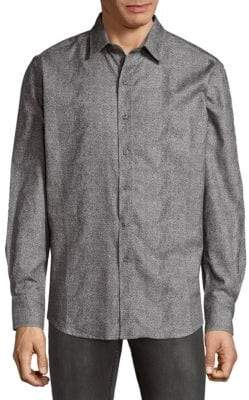 Robert Graham Philpot Cotton Button-Down Shirt