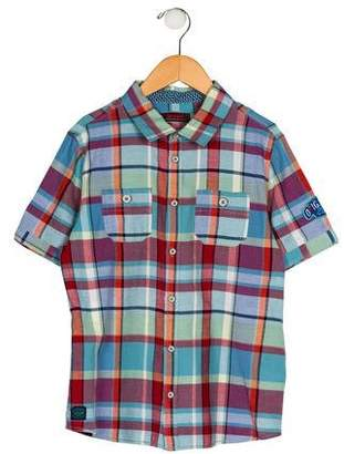 Catimini Boys' Plaid Button-Up Shirt