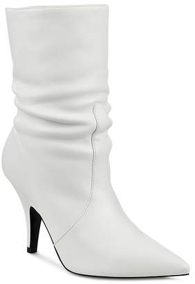 KENDALL + KYLIE Women's Calie Leather Mid-Calf Pointed Toe Booties