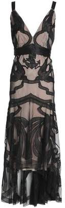 Temperley London Embroidered Tulle Midi Dress