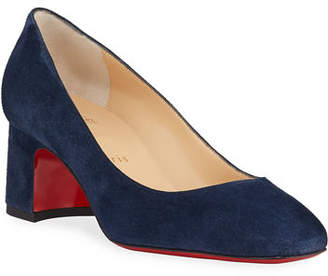 Christian Louboutin Donna Stud Suede Red Sole Pumps