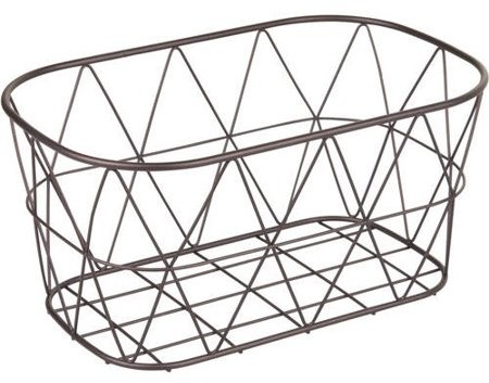 Better Homes & Gardens Better Homes and Gardens Bathroom Wire Storage Basket, Small, Bronze
