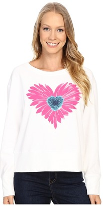 Life is good Water Color Daisy Go-To Crew $46 thestylecure.com