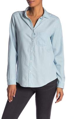 Caslon Long Sleeve Chambray Button Up Shirt