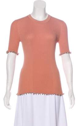 Alexander Wang Embellished Rib Knit Top