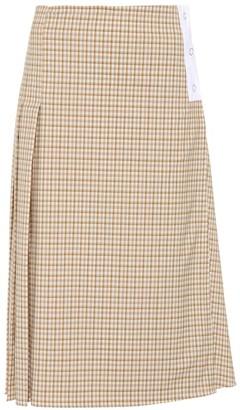 Victoria Beckham Checked stretch wool skirt