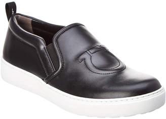Salvatore Ferragamo Folgaria Leather Slip-On Sneaker