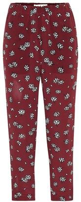 Marni Daisy silk cropped pants