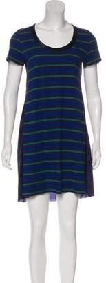 Sacai Luck Striped Paneled Mini Dress