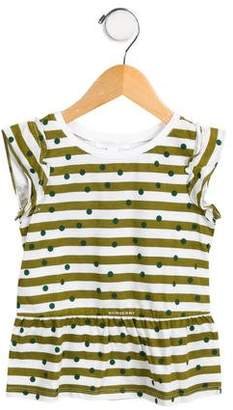 Burberry Girls' Printed Cap Sleeve Top w/ Tags