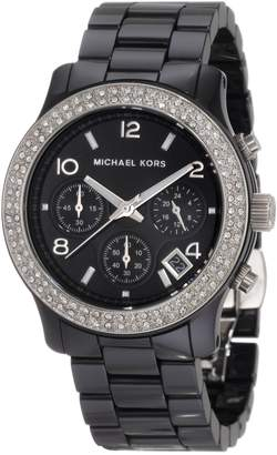 Michael Kors Women's MK5190 Ceramic Runway Glitz Watch