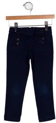 Ralph Lauren Girls' Button-Accented Pants