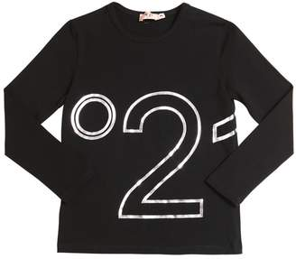 N°21 Logo Printed Cotton Jersey T-Shirt