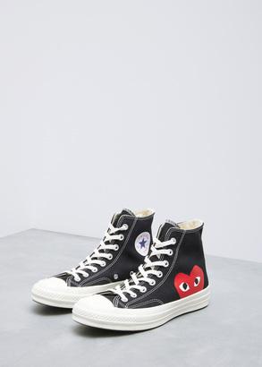 Comme des Garcons PLAY black converse chuck taylor high-top $125 thestylecure.com