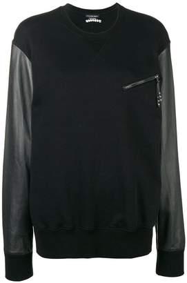 Alexander McQueen contrasting panel sweatshirt