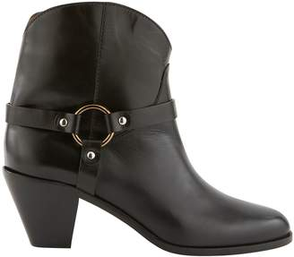 Francesco Russo Fyre leather ankle boots
