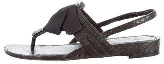 Vera Wang Snakeskin Embellished Sandals