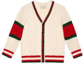 Gucci Children's cable knit wool cardigan