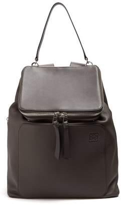 Loewe Goya Leather Backpack - Mens - Black