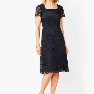 Talbots Medallion Lace A-Line Dress