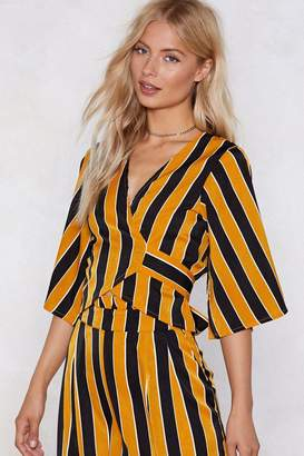 Nasty Gal The Straight Away Striped Top