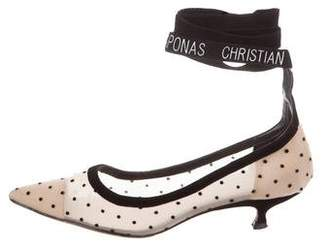 Christian Dior Lovely-D Pointed-Toe Pumps