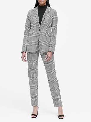 Banana Republic Petite Long and Lean-Fit Plaid Blazer