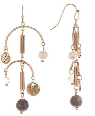 Melrose and Market Hammered Disc & Bead Mobile Earrings