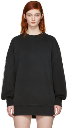 YEEZY Black 'Calabasas' Boxy Crewneck Sweatshirt $250 thestylecure.com