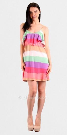 Voom Leslie Ruffled Babydoll Casual Dresses