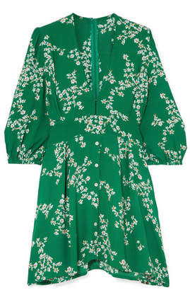 Faithfull The Brand Margot Floral-print Crepe Mini Dress - Green