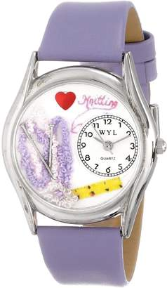 Whimsical Watches Women's S0440003 Knitting Lavender Leather Watch