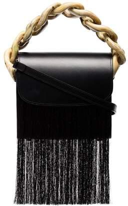 Marques Almeida Marques'almeida Black Chunky Chain Fringe Shoulder Bag