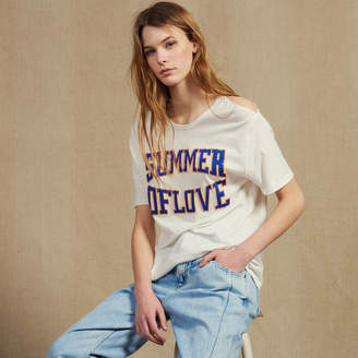 Sandro T-Shirt With Cut-Outs On The Shoulders