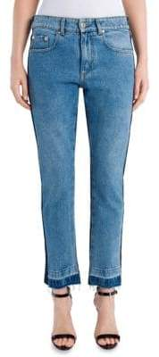MSGM Two-Tone Distressed Jeans