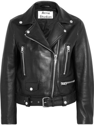 Acne Studios - Leather Biker Jacket - Black $1,600 thestylecure.com