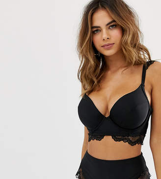 6b9347045b Wolfwhistle Wolf & Whistle Fuller Bust Exclusive lace underwired bikini top  in black