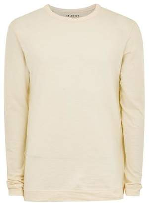 Topman Mens Brown SELECTED HOMME Beige Long Sleeve T-Shirt