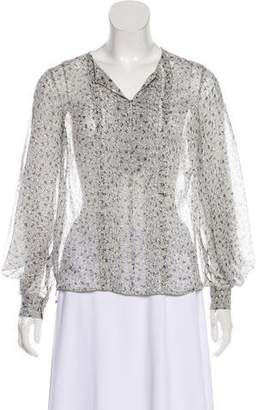 Diane von Furstenberg Sliced Silk Top